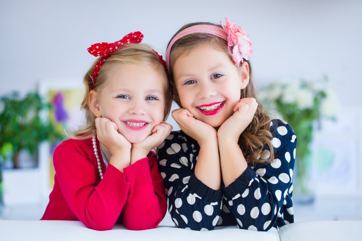 two childs modeling
