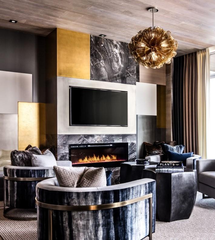 luxury interior design of a living room by Lori Morris