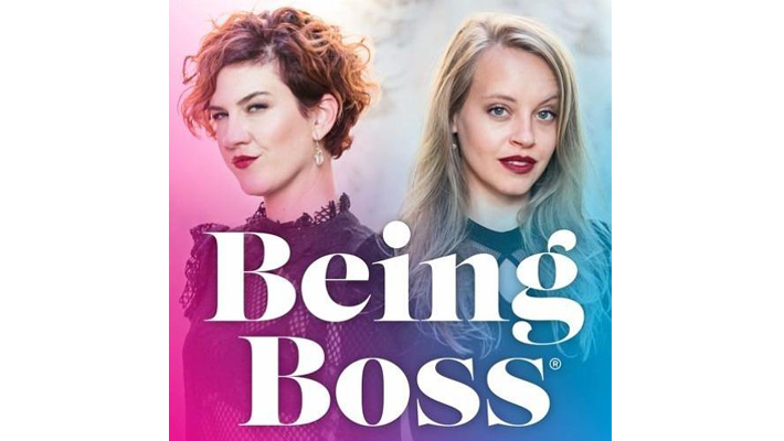 being boss podcast hosts kathleen shannon and emily thompason - best podcasts for women