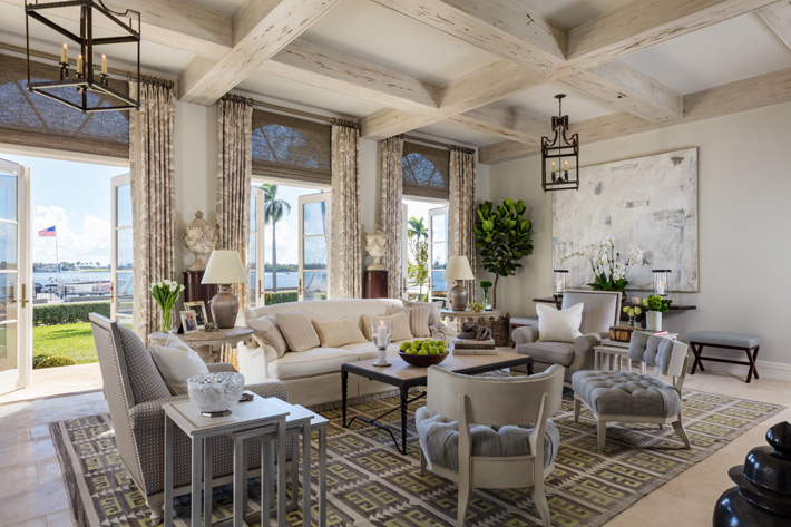 family room design by David Phoenix at Kips Bay showhouse palm beach 2019 - Photo Credit Nickolas Sargent