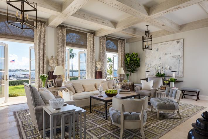 family room design by David Phoenix at Kips Bay showhouse palm beach 2019 - Photo Credit Nickolas Sargent