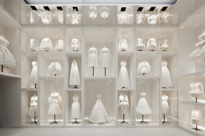 atelier section at the dior exhibition, christian dior: designer of dreams at the v&a museum london