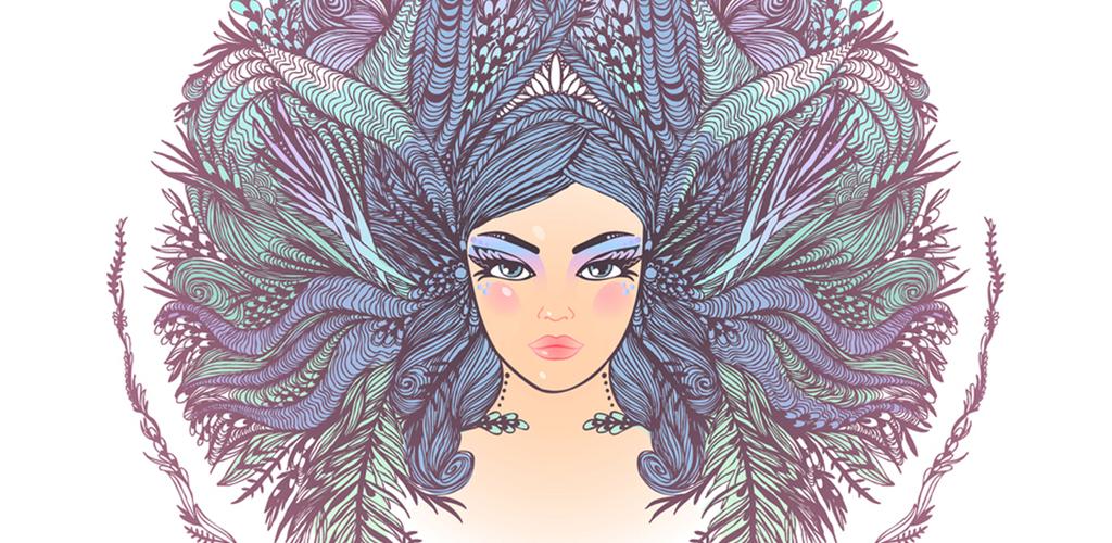 illustration of a woman representing aquarius monthly horoscope - february horoscope 2019