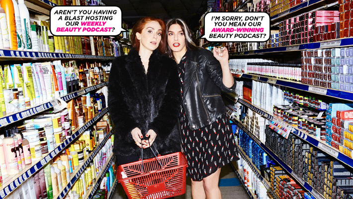 fat mascara podcast hosts jennifer goldstein and jessica martlin - best podcasts for women