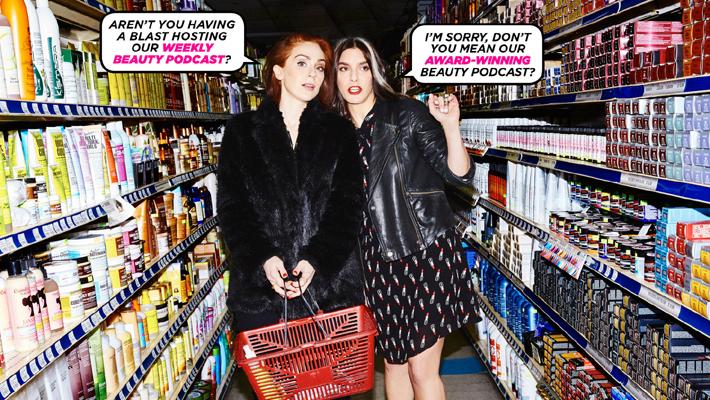 fat mascara podcast hosts jennifer goldstein and jessica martlin - best podcasts for women