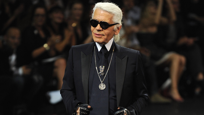 karl lagerfeld at Chanel runway show paris fashion week haute couture f/w 2011/2012