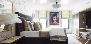 Dream Master Bedroom Design by A List Interiors at Holiday House NYC 2018