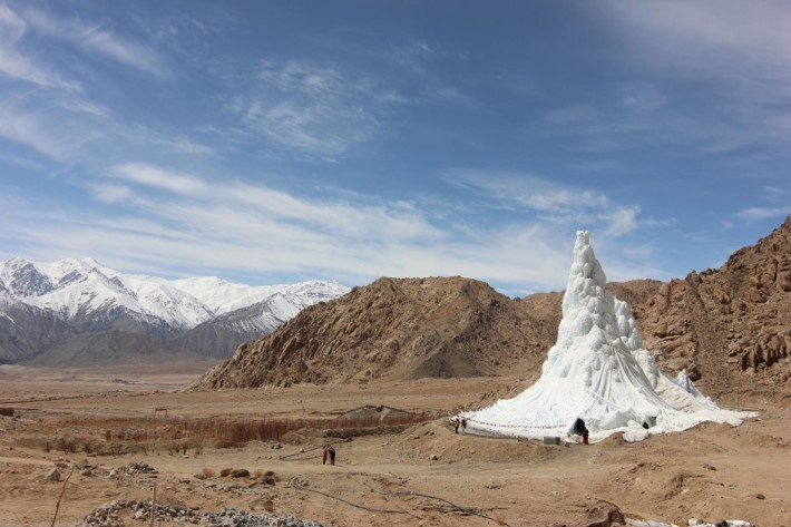 Artificial Glacier in India exposed at Trienalle di Milano