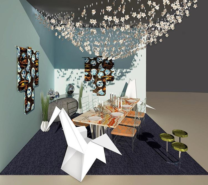 Design by Roric Tobin Designs for Modern Luxury for DIFFA's Dining by Design 2019