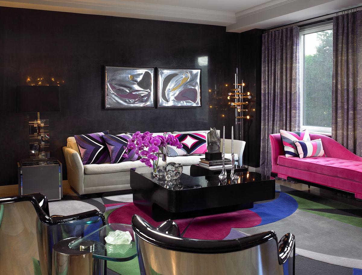 artist retreat feminine living room design by amy lau