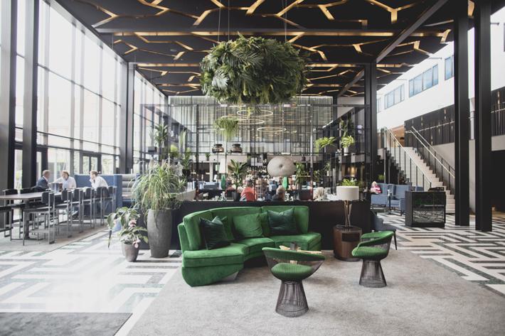 lobby of the Skt. Petri denmark designed by anemone ville vage - wille interior - top female interior designers
