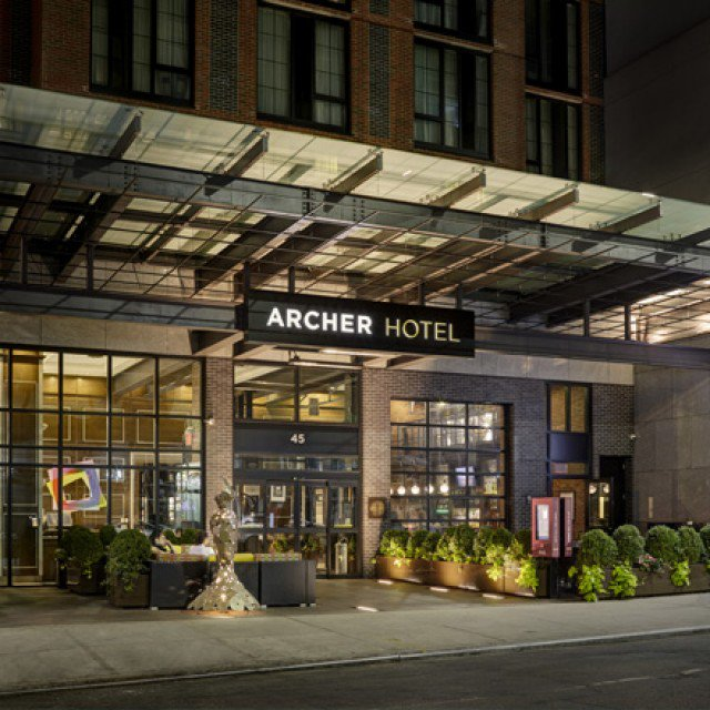 exterior of the archer hotel new york - a top boutique hotel in nyc