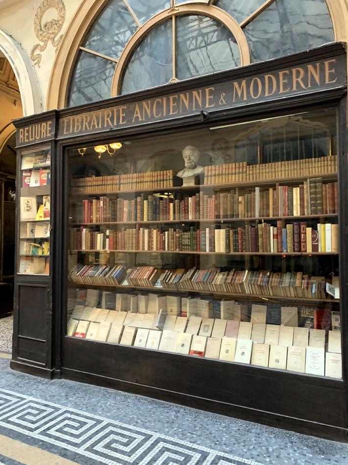Librairie F Jousseaume Vintage Bookshop in Galerie Vivienne Paris during a tour by le connoisseur