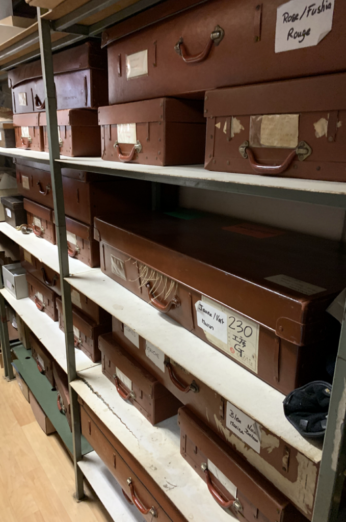 leather cases of materials on Behind the Scenes at Ets Legeron with Le Connoisseur