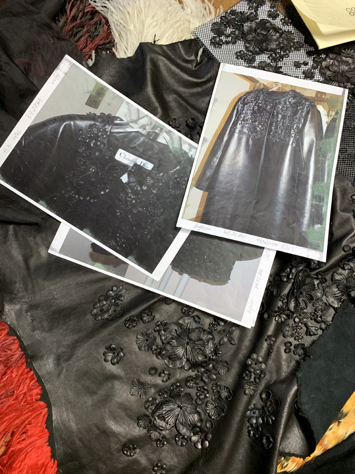 black leather flowers for chrisitan dior on Behind the Scenes at Ets Legeron with Le Connoisseur