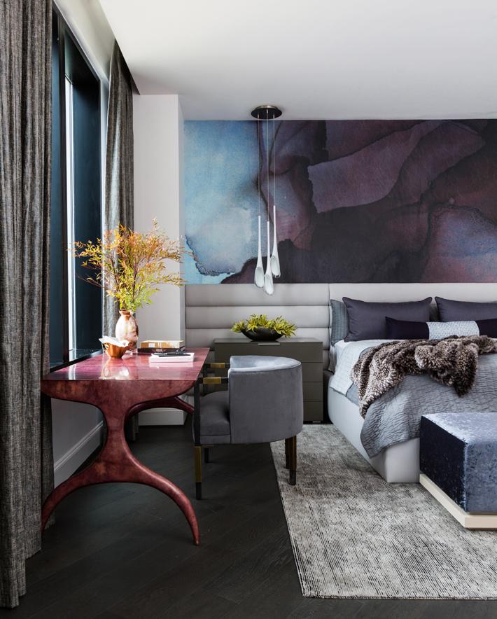 bedroom interior design by laura umansky of laura u interior design - celebrating women's history month with top female interior designers