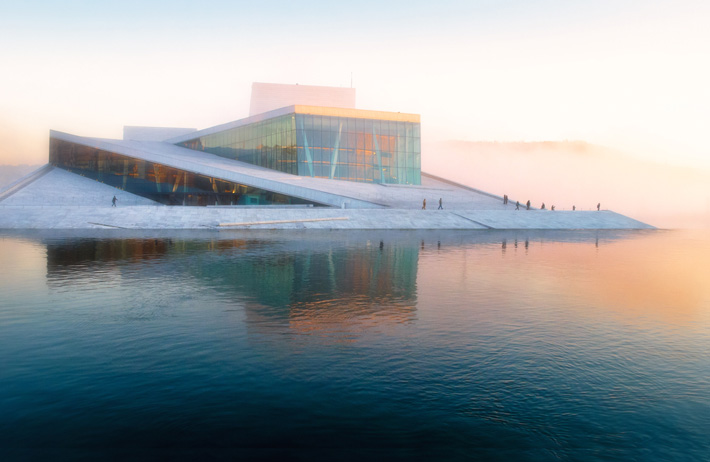 Oslo Opera House at sunset - 2019 luxury destinations - Photo by Vidar Nordli-Mathisen on Unsplash