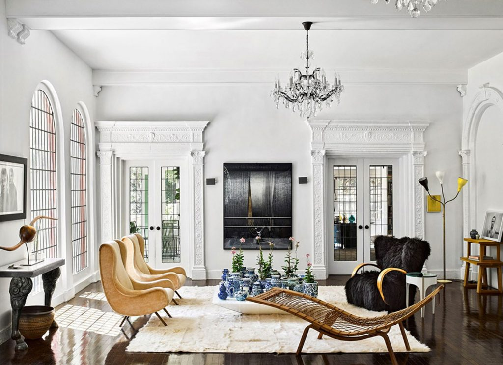 laurel canyon living room interior design by brigette romanek - celebrating women's history month with top female interior designers