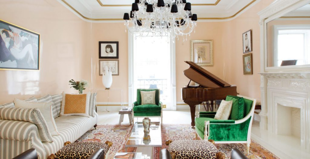 living room design at the dakota by sasha bikoff - celebrating women's history month with top female interior designers