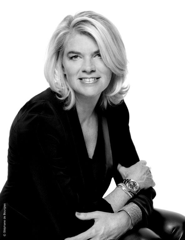 black and white portrait of sybille de margerie by stephane de bourgies - celebrating women's history month with top female interior designers