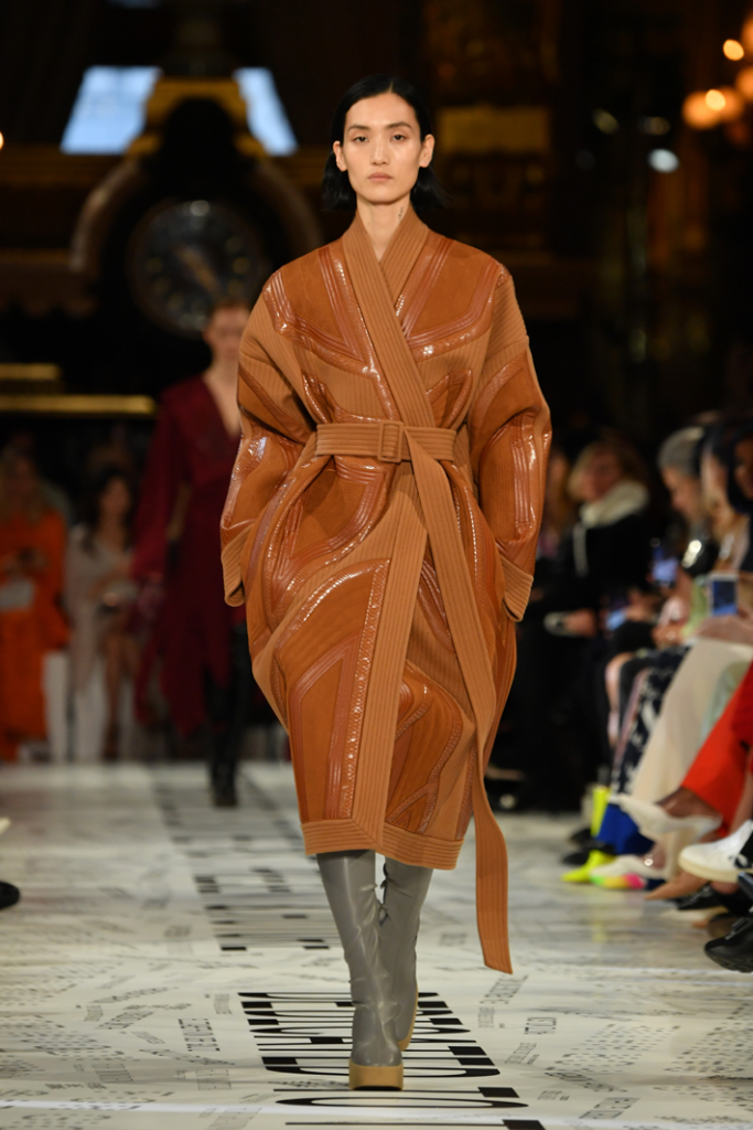 A model walks the runway during the Stella McCartney show at Paris Fashion Week  Fall/Winter 2019/2020 Womenswear presentation