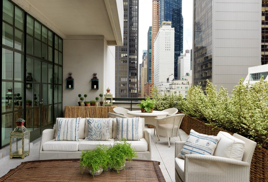 terrace at the whitby hotel new york - top boutique hotels in nyc