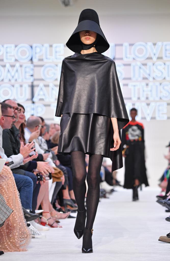 A model walks the runway during the Valentino show at Paris Fashion Week Fall/Winter 2019/2020 Womenswear presentation