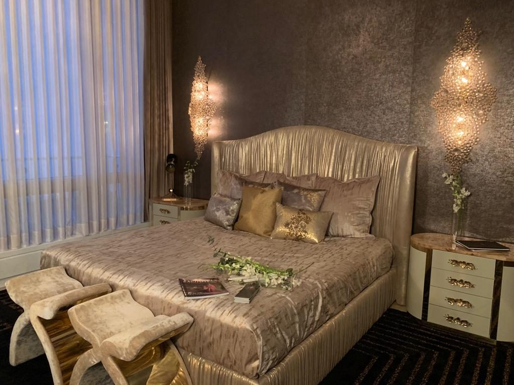 luxurious boutique hotel style bedroom by koket