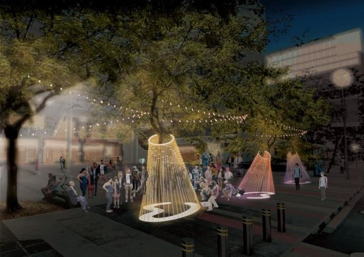 The Harp Installation at Singapore Design Week