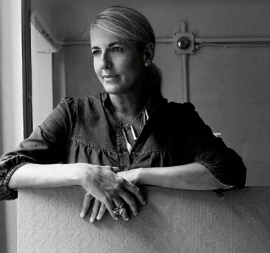 black and white photo of patricia urquiola by max zambelli - celebrating women's history month with top female interior designers
