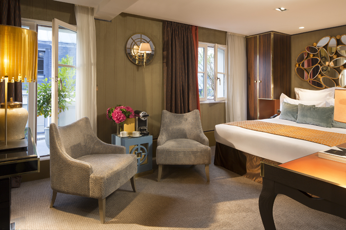 deluxe terrace room at hotel baume