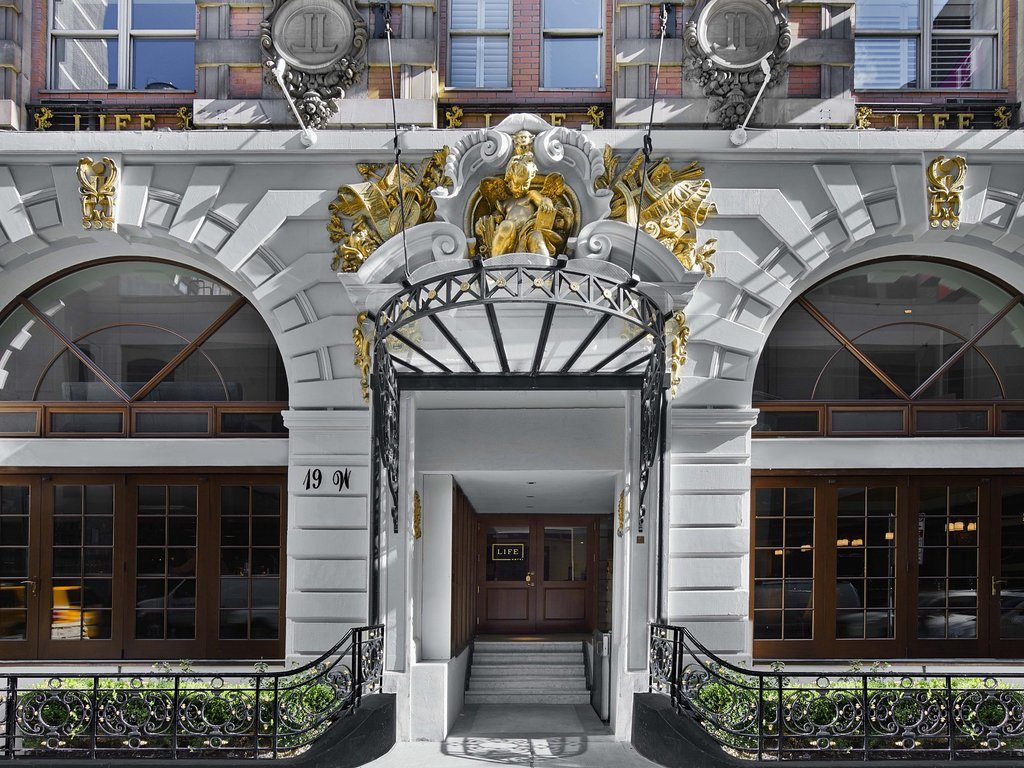 exterior facade of the life hotel nomad - a top boutique hotel in nyc