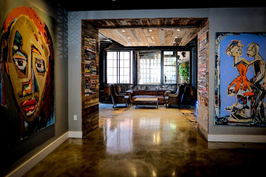 lobby of the paper factory hotel new york - top boutique hotels in nyc