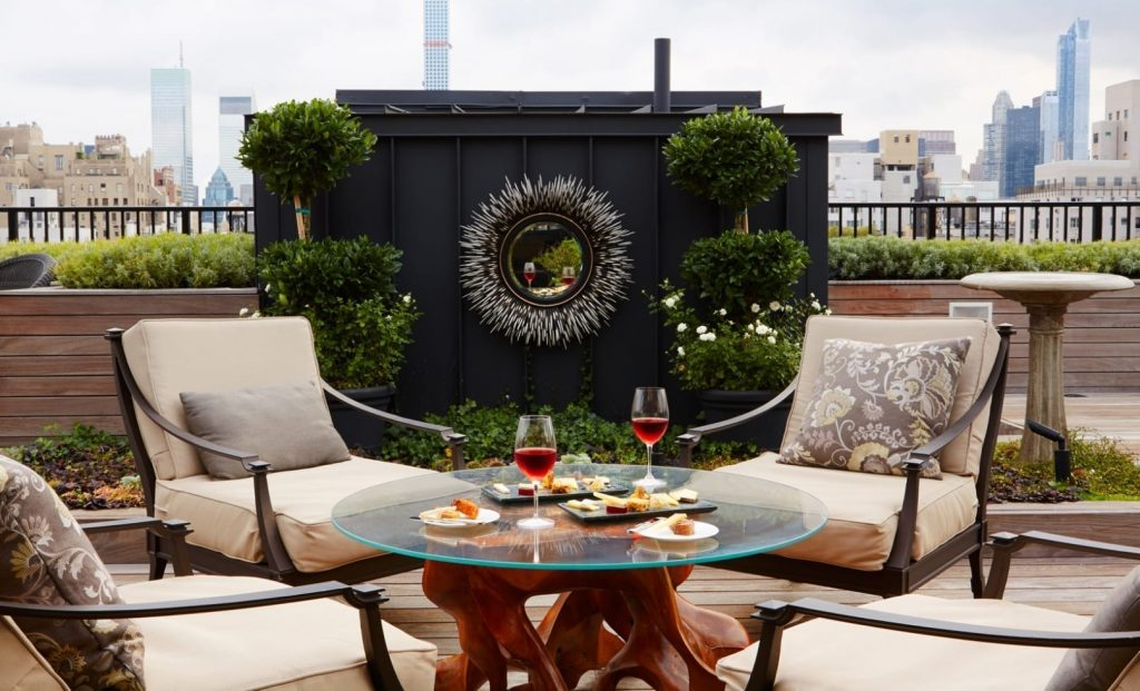 the surrey hotel private roof garden - top boutique hotels in nyc
