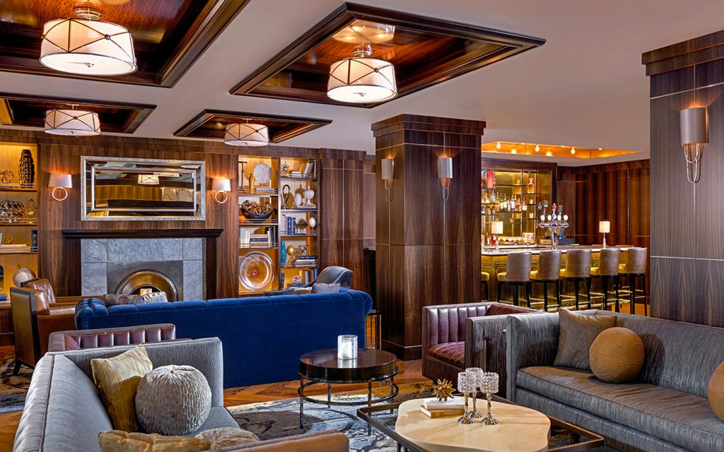 glamorous lounge area westhouse hotel new york - top boutique hotels in nyc