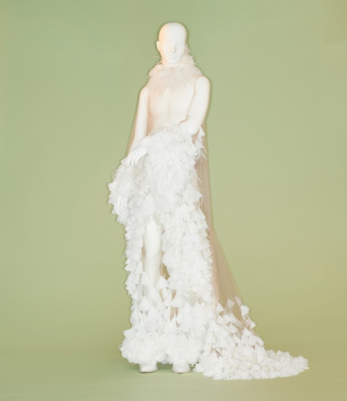 Alejandro Gómez Palomo for Palomo Spain at the met costume institute camp notes on fashion exhibition