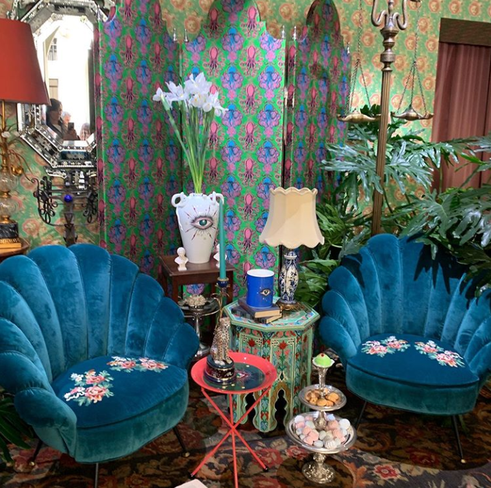 gucci pop-up apartment during milan desgin week 2019