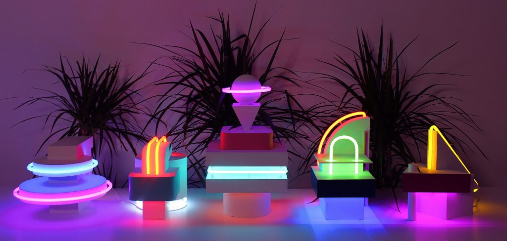 Ocean Drive Collection by April Key Design - neon trend at salone del mobile 2019