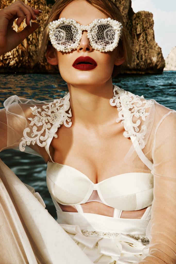 beautiful woman in vintage bathingsuit - two-piece swimwear trends