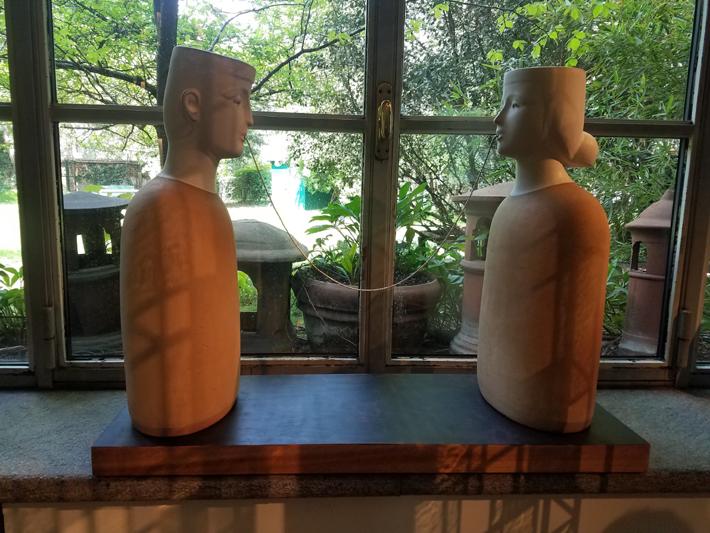 Senza Parole ceramic sculpture by Tonino Negri on display at Rossana Orlandi during milan design week 2019