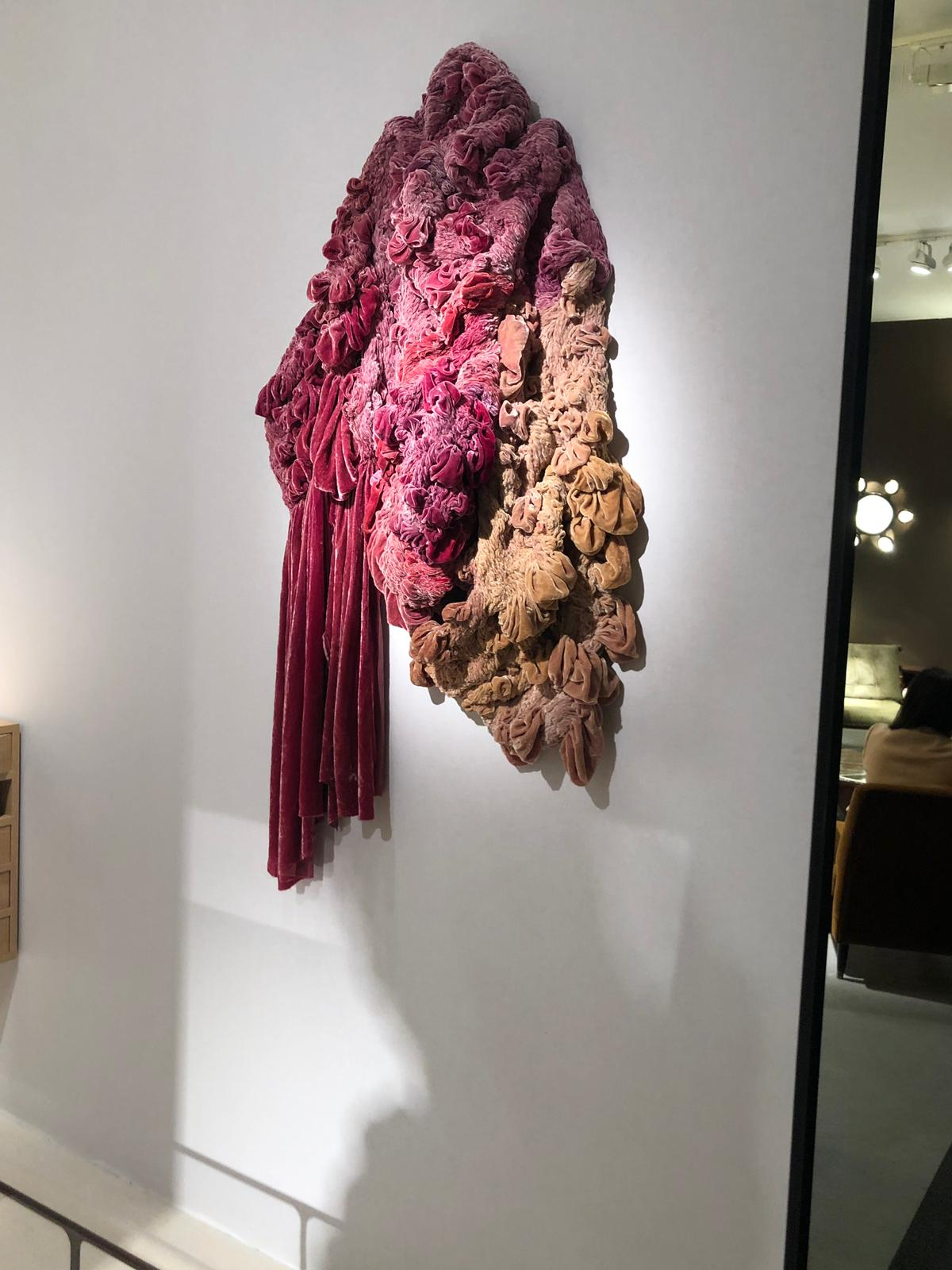 art made of velvet at pad paris 2019 art and design show