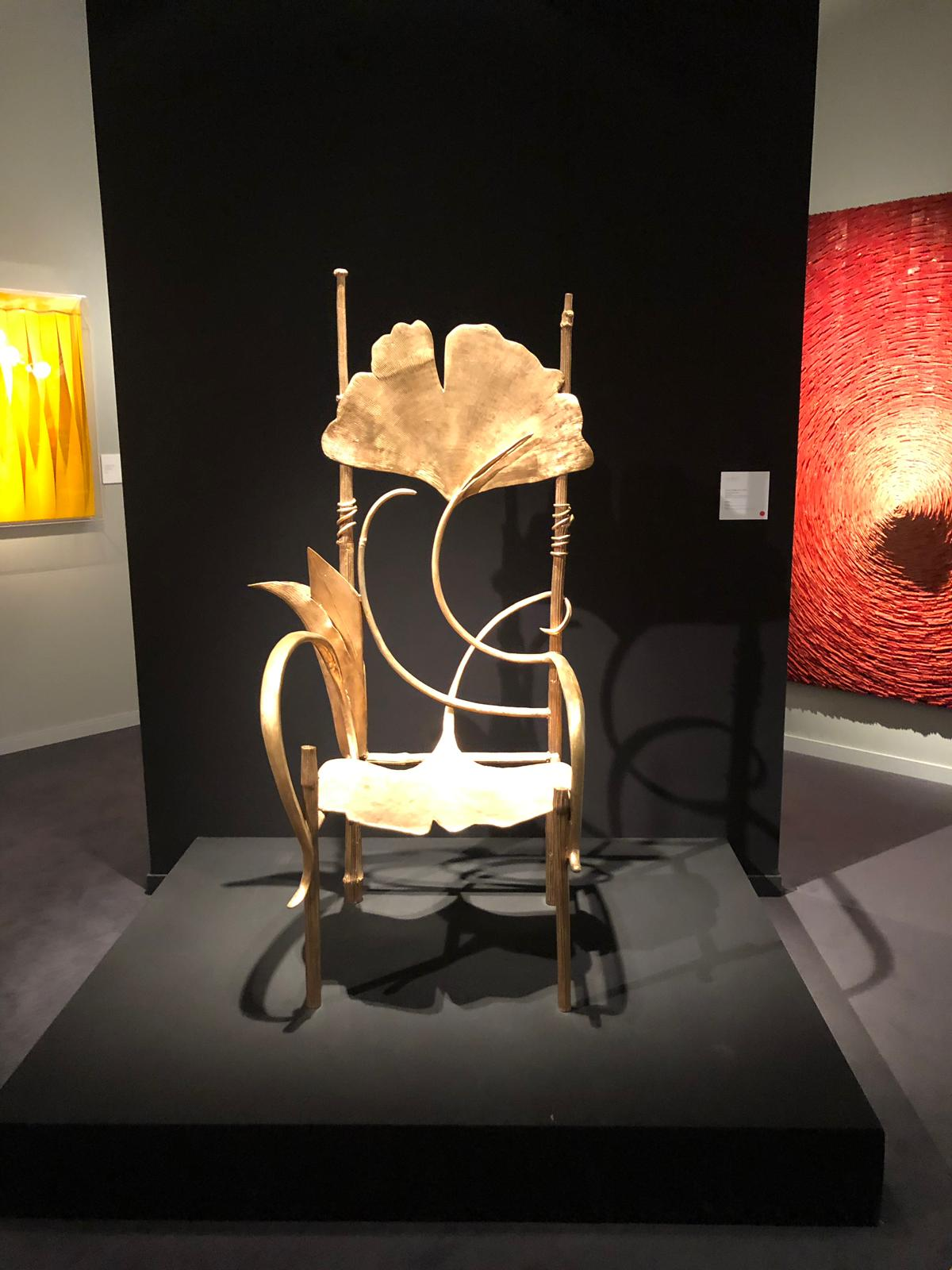 ginko leaf chair at pad paris 2019 art and design show