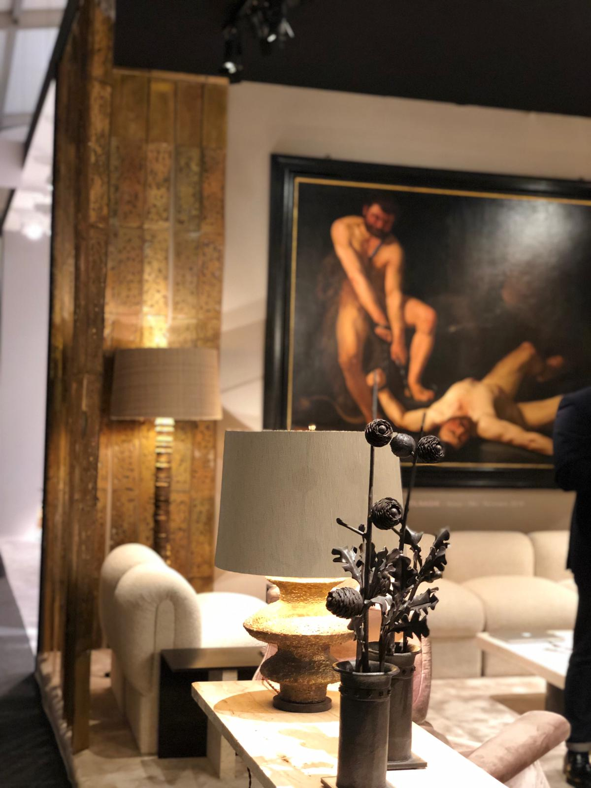 contemporary furniture and classical art at at pad paris 2019 art and design show