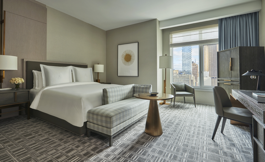 luxury five star hotels a perfect getaway deluxe-guest-room Four Seasons New York Downtown