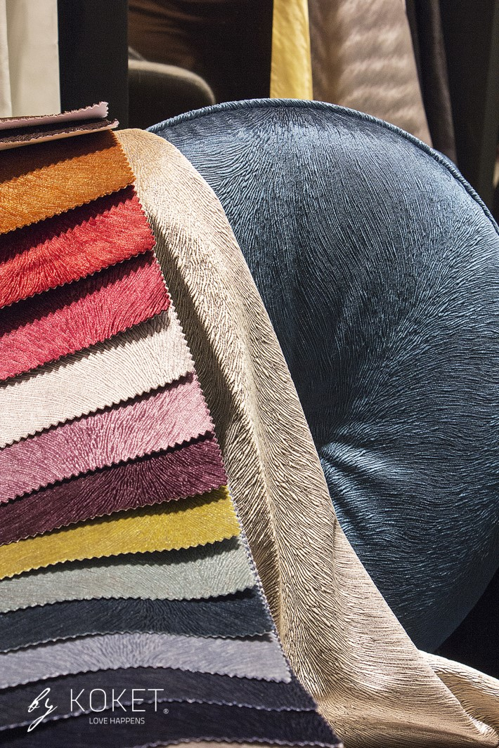 hemma chair upholstered with hide velvet by koket - how to use velvet