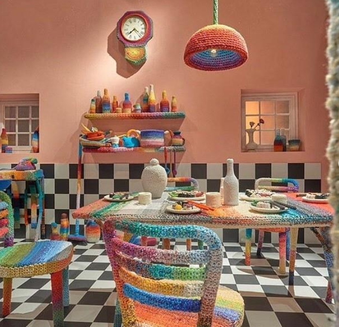 missoni home sweet home - crochet trend salone del mobile 2019