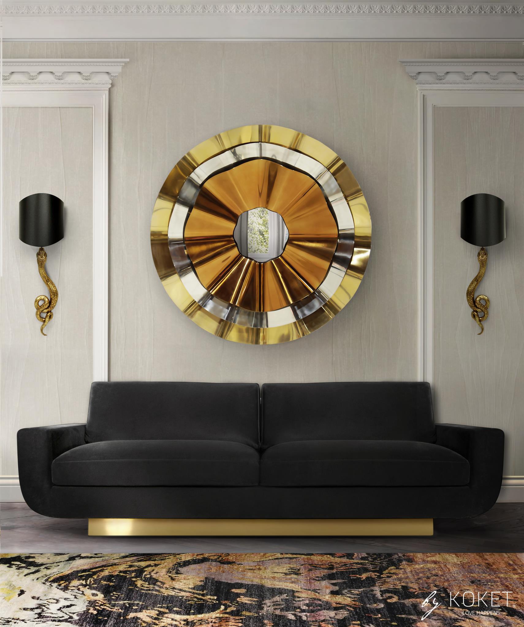 sofia sofa in black velvet by koket - how to use velvet