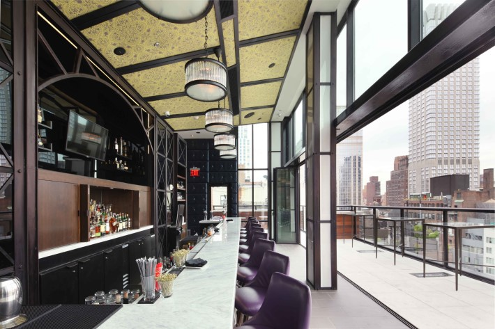 Best rooftop bars nyc - Spyglass rooftop bar at the archer hotel