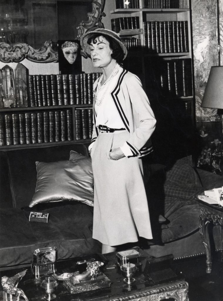Gabrielle Coco Chanel, 1968, in her apartment at 31 Rue Cambon, Paris