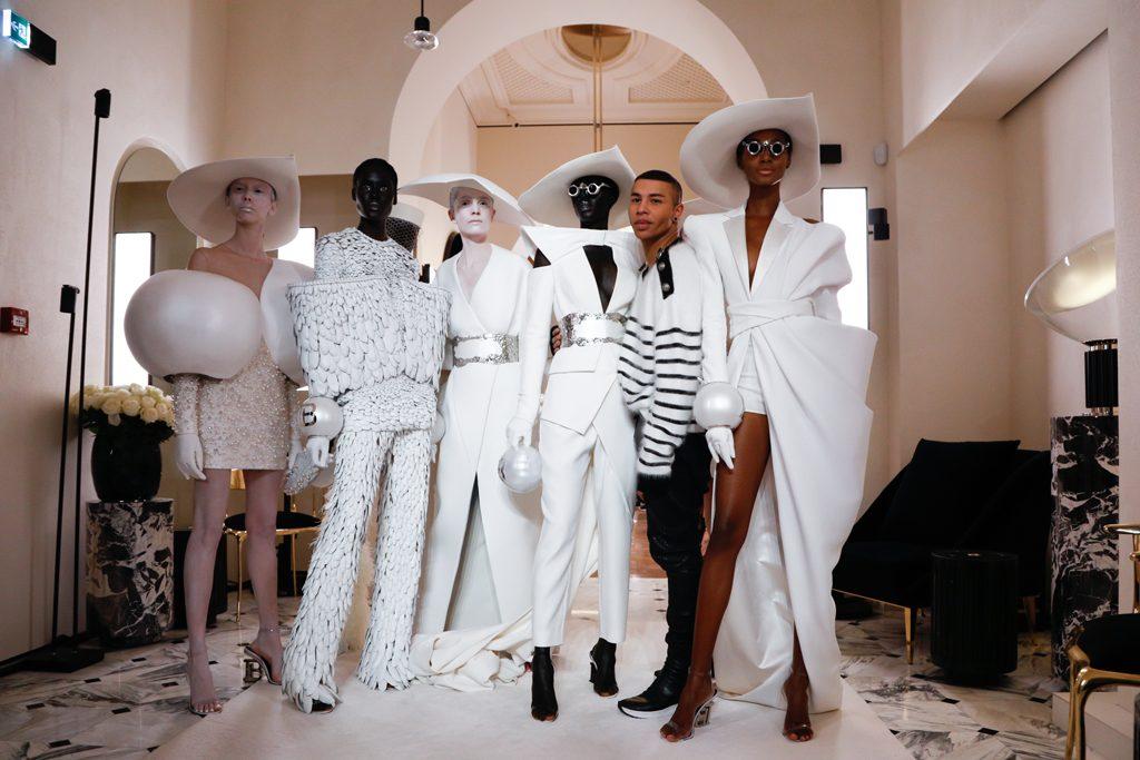 Balmain Couture Spring Summer 2019 Paris - Geisha Chair at Balmain Paris